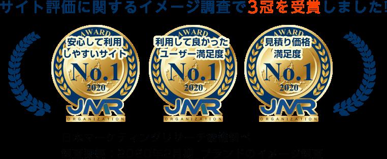 サイト評価に関するイメージ調査で3冠を受賞しました! 日本マーケティングリサーチ機構調べ 調査概要:2020年2月期_ブランドのイメージ調査
