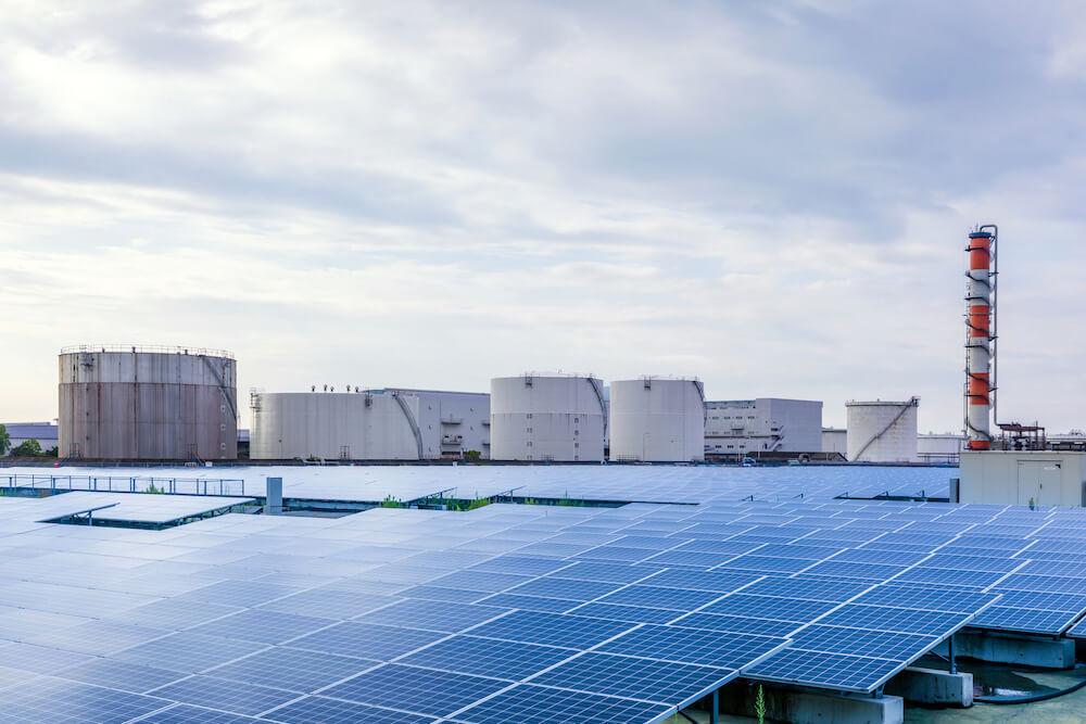 工場の太陽光発電