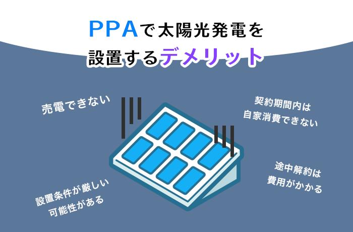 太陽光PPAデメリット